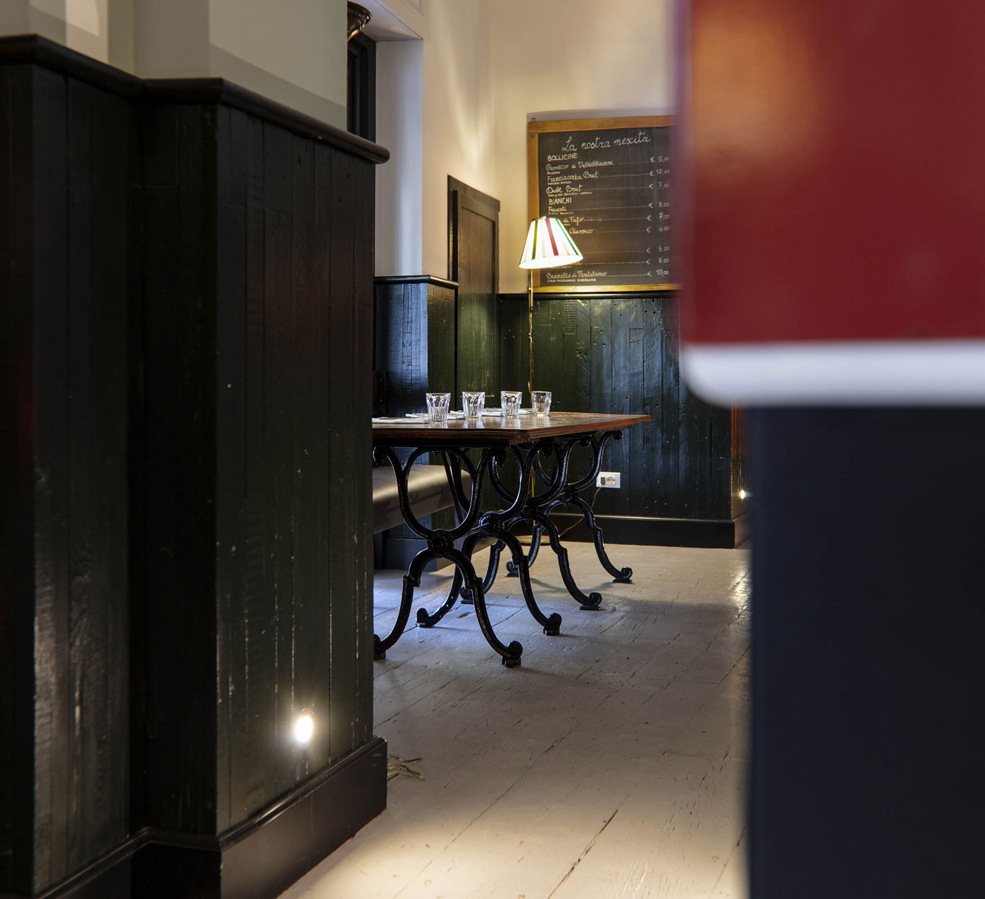 dettaglio interno del ristorante