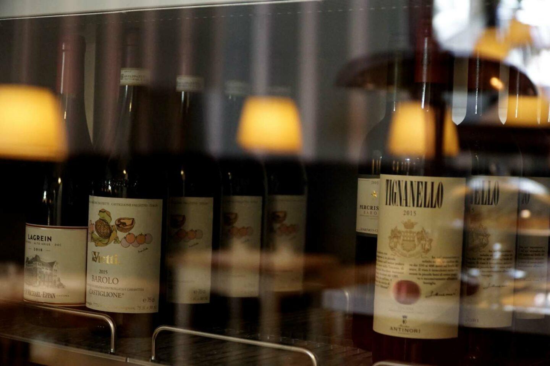 bottiglie di vino rosso tignanello